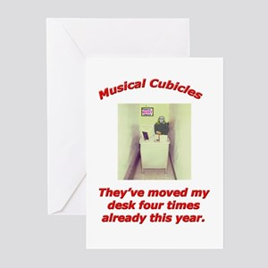 Musical Cubicles Greeting Cards (Pk of 10)