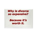 Divorce is worth it. Rectangle Magnet (100 pack)