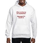 Divorce is worth it. Hooded Sweatshirt