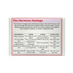 The Hormone Hostage Rectangle Magnet (100 pack)