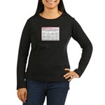 The Hormone Hostage Women's Long Sleeve Dark T-Shi