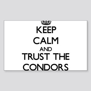 Keep calm and Trust the Condors Sticker