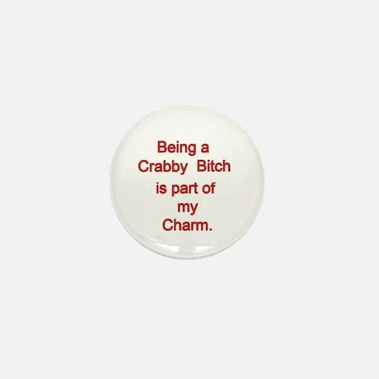 Crabby Bitch Mini Button