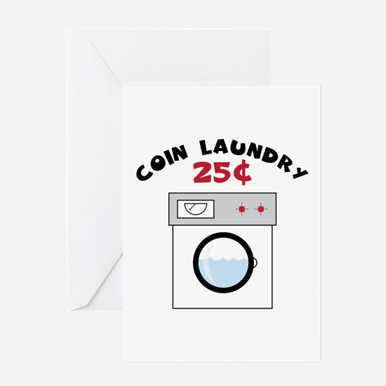 Coin Laundry 25 Greeting Cards