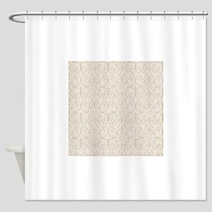 Vintage Victorian Ornamental Pattern Shower Curtai