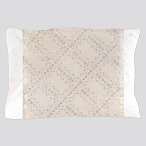 Ivory Antique Victorian Ornamental Pattern Pillow
