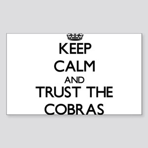 Keep calm and Trust the Cobras Sticker