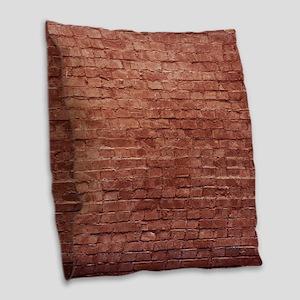 Rustic Rugged Urban Bricks Burlap Throw Pillow