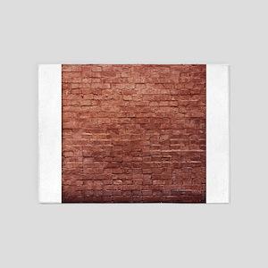 Rustic Rugged Urban Bricks 5'x7'Area Rug