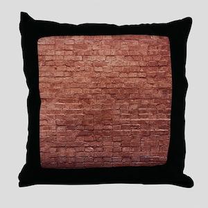 Rustic Rugged Urban Bricks Throw Pillow
