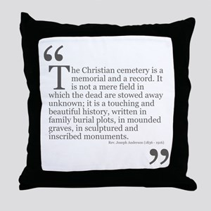 Christian Cemetery Throw Pillow