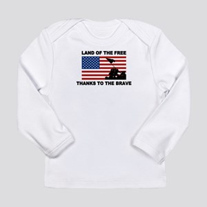 Land Of The Free Thanks To The Brave Long Sleeve T