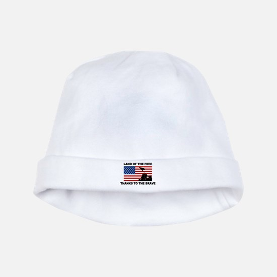 Land Of The Free Thanks To The Brave baby hat
