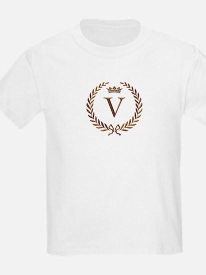 Napoleon initial letter V monogram Kids T-Shirt