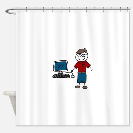 Computer Shower Curtain