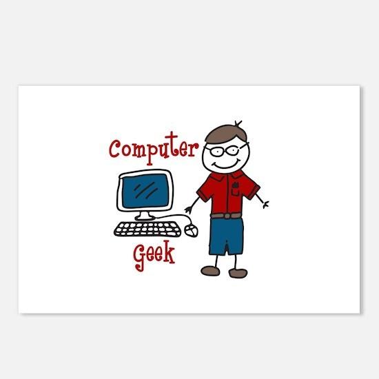 Computer Geek Postcards (Package of 8)