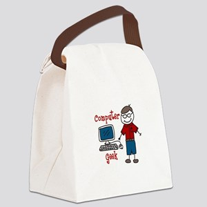 Computer Geek Canvas Lunch Bag