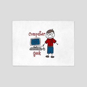 Computer Geek 5'x7'Area Rug