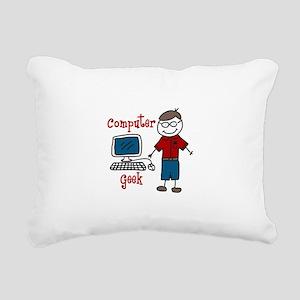 Computer Geek Rectangular Canvas Pillow