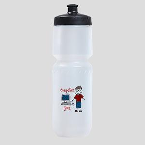 Computer Geek Sports Bottle