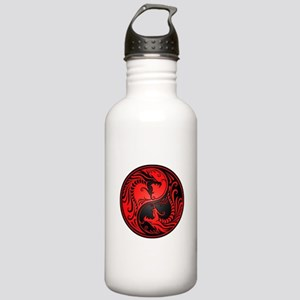 Red And Black Yin Yang Stainless Water Bottle 1.0l