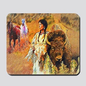 Buffalo Woman Mousepad