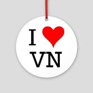 I Love VN Ornament (Round)