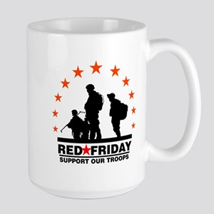 3 Troops/Red Friday Large Mug