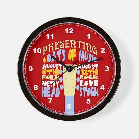Sixties Music Festival Wall Clock