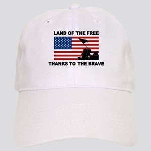 Land Of The Free Thanks To The Brave Baseball Cap