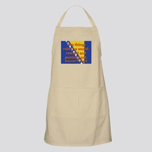Two Things Rule The World Light Apron