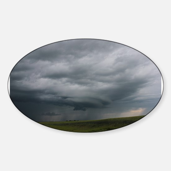 Unique Angry sky Sticker (Oval)
