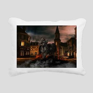 Dark Horse Rectangular Canvas Pillow