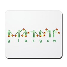 Glasgows green and white semaphore Mousepad