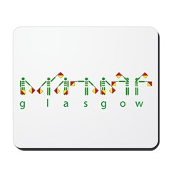Glasgows green and white semaphore Mousepad