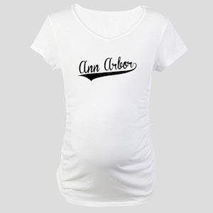 Ann Arbor, Retro, Maternity T-Shirt