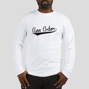 Ann Arbor, Retro, Long Sleeve T-Shirt