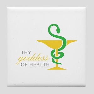 THY goddess OF HEALTH Tile Coaster