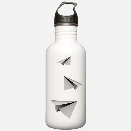 Origami Paper Plane Water Bottle