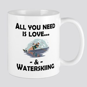 Love And Waterskiing Mugs