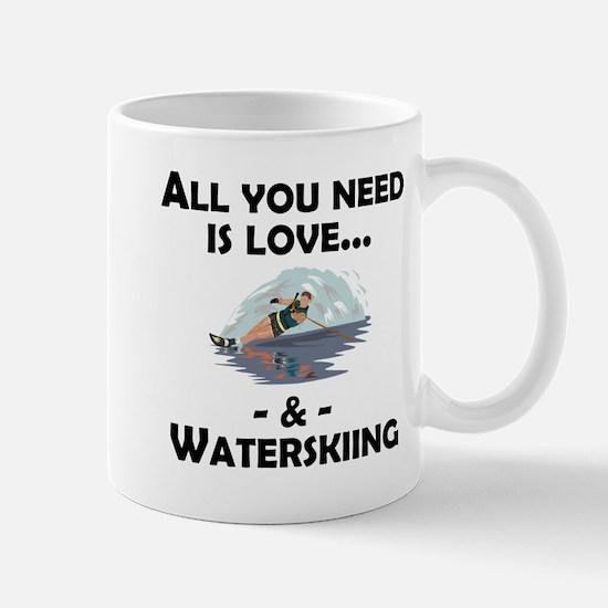 Love And Waterskiing Mugs