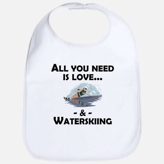 Love And Waterskiing Bib