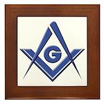 Modern Blue Lodge S&C Framed Tile