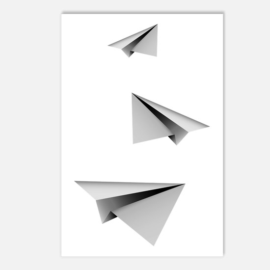 Origami Paper Plane Postcards (Package of 8)
