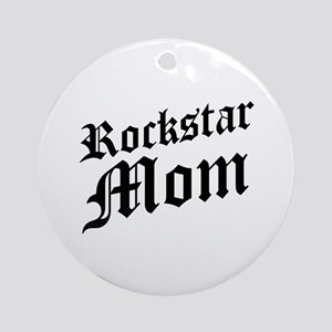 Rockstar Mom Ornament (Round)