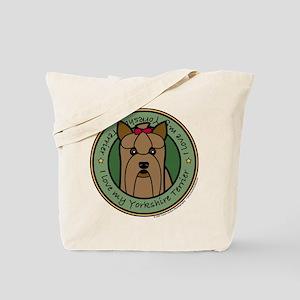 Love My Yorkie Tote Bag