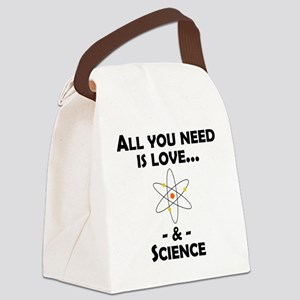 Love And Science Canvas Lunch Bag
