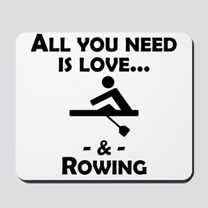 Love And Rowing Mousepad