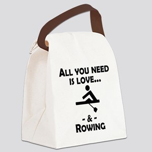 Love And Rowing Canvas Lunch Bag