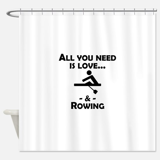 Love And Rowing Shower Curtain